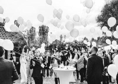 5c605013bad523f051155661_Hochzeitsgesellschaft lässt Luftballons steigen-p-500